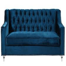 tufted velvet sofa haute house horton navy velvet sofa