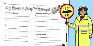 road safety write up worksheet road safety write up