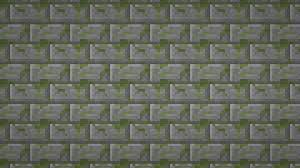 minecraft moss stone brick textured wallpaper by elbarnzo on