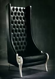 Black Leather Armchairs Very High Back Armchairs Taylor Llorente Furniture
