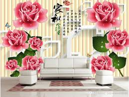 customized 3d wallpaper home and rich roses 3d tv backdrop
