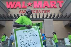 walmart strike dozens of la workers walk the in