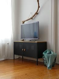 ikea media console hack black painted ikea ps hack paint glossy black with wood top