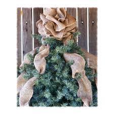 christmas tree bows burlap bow christmas tree toppers
