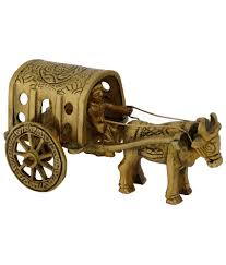 pindia fancy home decor brass small bullock cart show piece buy