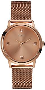 bracelet watches guess images Men 39 s rose gold guess diamond mesh bracelet watch u0280g2 gif