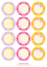 free sticker label templates baby shower templates for girlbaby shower best ideas cupcake toppers