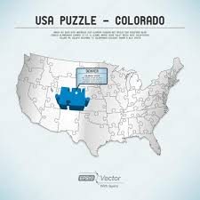 One Piece Map Usa Map Puzzle One State One Puzzle Piece Colorado Denver