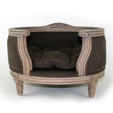 the george luxury designer pet bed in chocolate cuckooland