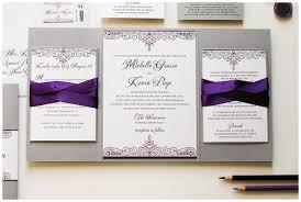 Silver Wedding Invitations Purple And Silver Wedding Invitations Marialonghi Com