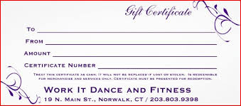 online gift certificates gift certificate work it and fitness norwalk ct