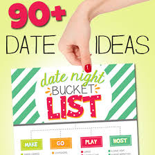 90 date ideas printable date list