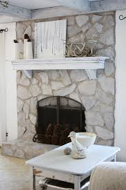 stone fireplaces pictures erin s art and gardens painted stone fireplace before and after