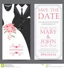 and groom cards and groom wedding invitation card stock vector