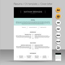 resume cv cover letter pack resume templates creative market