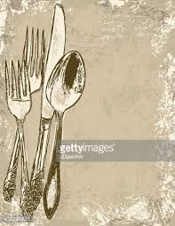 dinner invitation dinner invitation background with utensils vector getty images