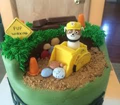 custom edible fondant paw patrol cake topper rubble bulldozer