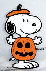 window clings halloween snoopy peanuts window cling