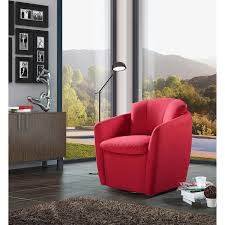 Red Leather Swivel Chair by Accent Chairs Costco