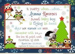 Christmas Baby Shower Invitations - christmas owl baby shower invitations merry festive tree
