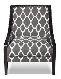 Grey Patterned Accent Chair Daphne Fabric Accent Chair The Brick