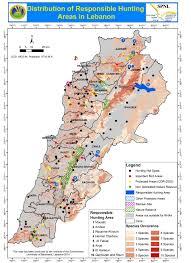 Lebanon World Map by Lebanese Municipalities Sign Responsible Hunting Areas Declaration