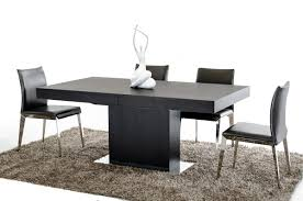 extended dining room tables durham modern wenge extendable dining table