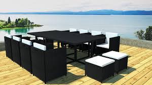 table de jardin haut de gamme salon de jardin salon en résine