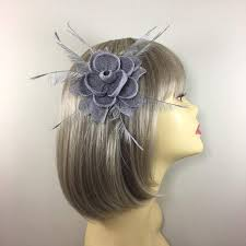 small fascinators for hair design small silver fascinator on hair clip for weddings