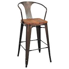 Modern Wood Bar Stool Metro Modern Gun Metal Bar Stool Eurway Furniture