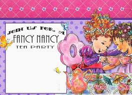 free fancy nancy birthday party invitation template a free
