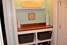 Laundry Room Closet by Laundry Room Closet Clothes Bin And Countertop Tutorial The