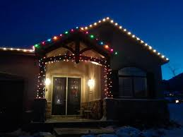 Colored Christmas Lights by Residential Services Lakeview Window Cleaning