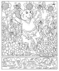 coloring pages free printable hidden picture puzzles printable