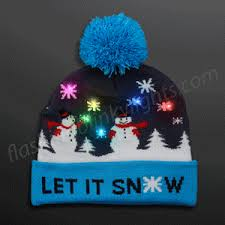 knit hat with led lights light up hats by flashingblinkylights