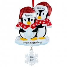 we re expecting penguin dangling flake ornament