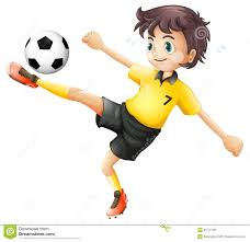 a boy kicking the soccer ball royalty free stock image image