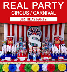 carnival birthday party colorful circus carnival party ideas simonemadeit