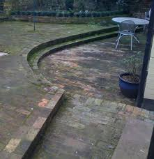 Patio Jet Wash Stepped Block Paved Patio Before Jet Wash London
