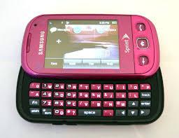 samsung seek sph m350 sprint cell phone pink slider keyboard evdo
