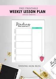 daily lesson plan template free prin elipalteco
