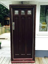 large solid oak front door reclaimed wood antique frame glazed