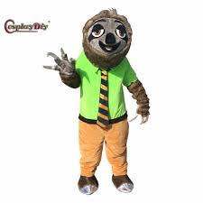 cosplaydiy zootopia mascot costume cartoon folivora sloth mascot