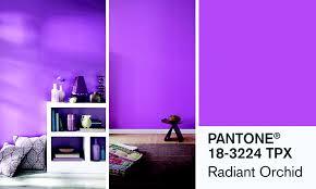couleur de chambre violet couleur violet peinture