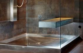 beautiful stainless steel and copper shower pans from spas