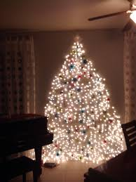 cool christmas tree on wall with lights images decoration
