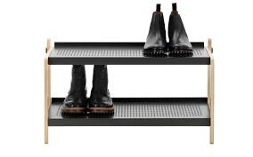 Shoe Rack by Sko Shoe Rack In White Industrial Design Shoe Storage