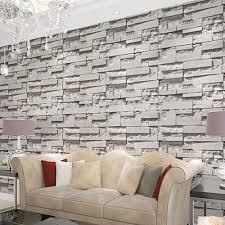 brick stone wall paper 3d pvc wallpaper for living room bedroom