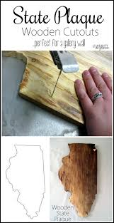 state wood diy state or country plaque tutorial using a scroll saw