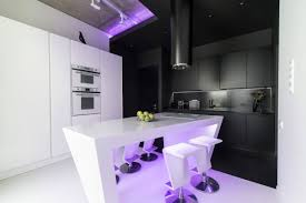 neon lights add color and uniqueness a moscow apartment